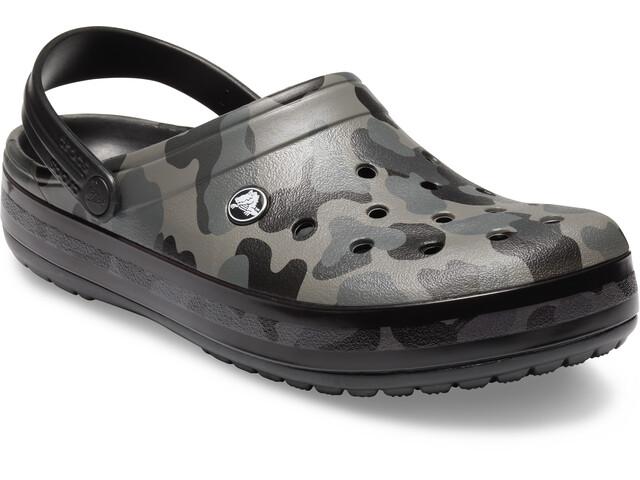 3be1824594f0 Crocs Crocband Seasonal Graphic Sandals grey black at Addnature.co.uk